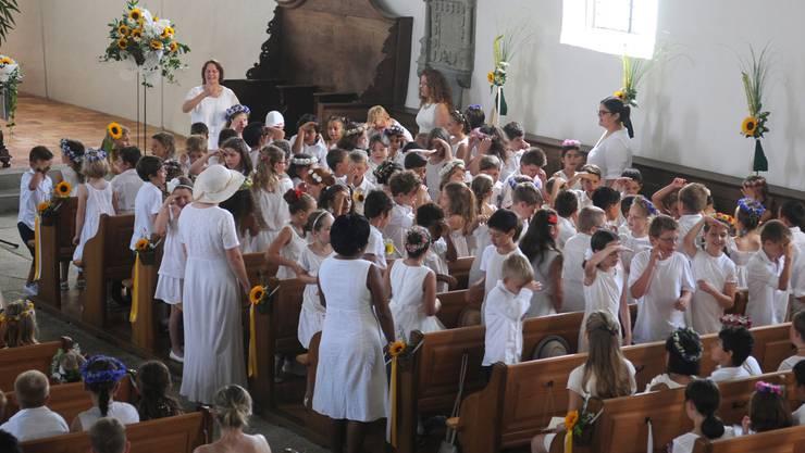 Die Morgenfeier findet in der Kirche auf dem Staufberg statt.
