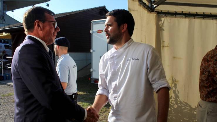 Bruno Vogel (l.) und Peter Schneider am letzten Renntag.