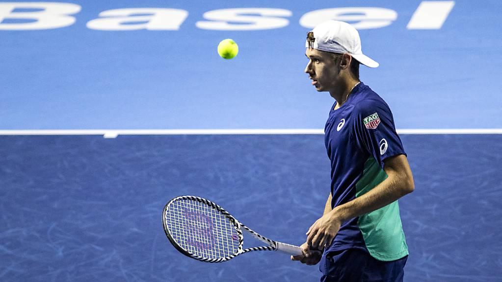 Der Australier Alex De Minaur im letztjährigen Swiss-Indoors-Final