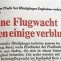 Die Frontseite des «Badener Tagblatts» vom 31.7.1970.