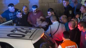 Die Verhaftung des palästinensischen Täters am Donnerstag in Tel Aviv.