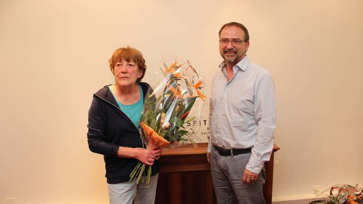 Barbara Probst Bernath übergibt nach 15 Jahren das Präsidium von Spitex Region Solothurn an Beat Graf