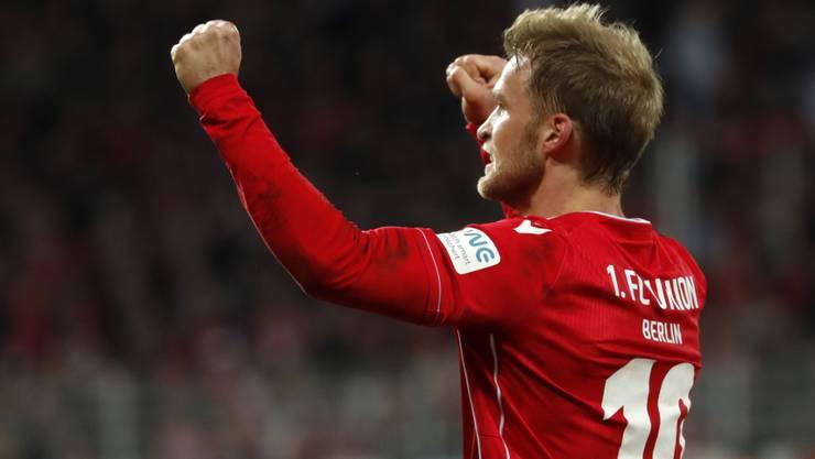 Der Schwede Sebastian Andersson war mit zwei Toren der Matchwinner für Union Berlin gegen Köln