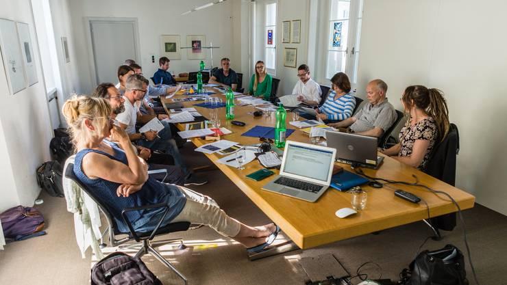 Regionale Vertreter und Vertreterinnen aus dem Bereich Mobilität treffen sich zum so!mobil Erfahrungsaustausch in Solothurn.