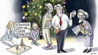 O du grüne Weihnachten: Ein Fest und jeder denkt sich seinen Teil.