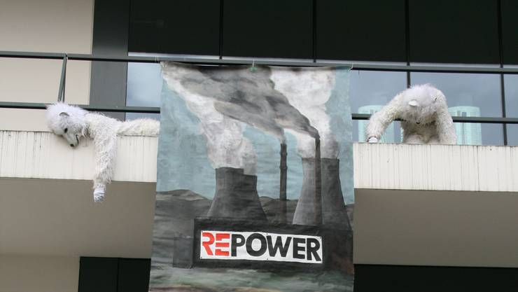 Die Greenpeace-Aktion in Baden