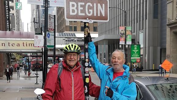 Chicago, Illinois: Hier beginnt die Reise von Roland Grädel und Tom Wälti