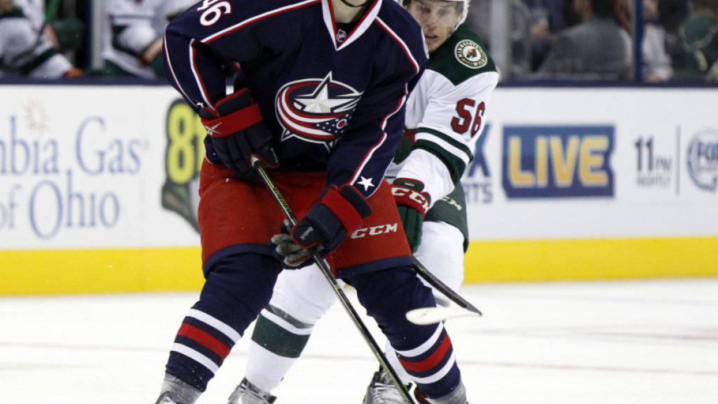 Dean Kukan durfte sich über einen Treffer im NHL-Vorbereitungsmatch gegen Buffalo freuen