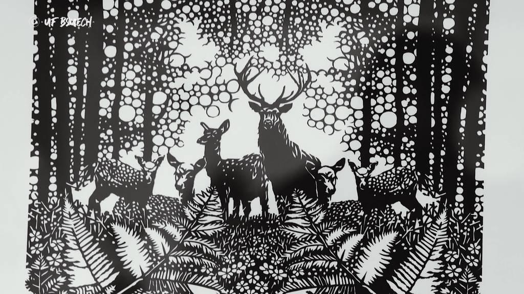 «Uf Bsuech» bei Papierkünstler Bruno Weber