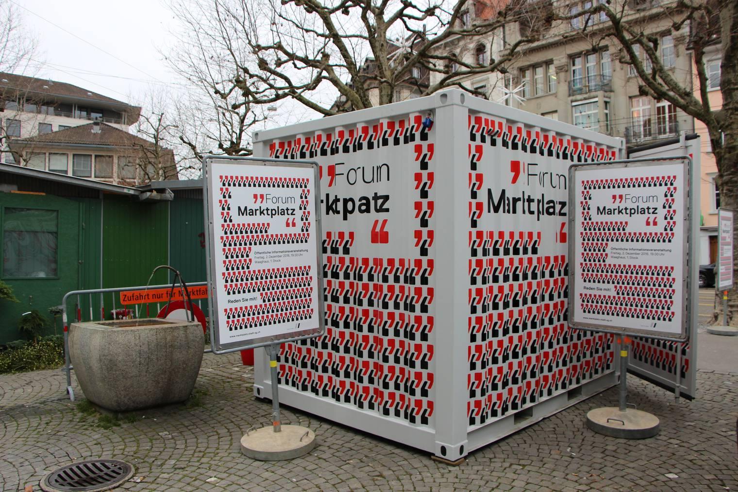 Dieser Container dient dazu, das Stimmvolk über das weitere Vorgehen aufzuklären. © FM1Today