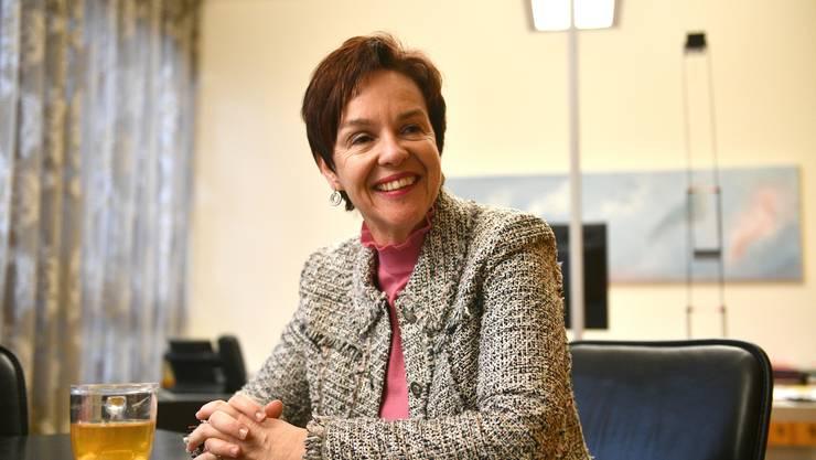 Die Baselbieter Bildungsdirektorin Monica Gschwind ist morgens um kurz nach sieben Uhr im Büro – den ersten Kaffee gibt es aber erst um zehn