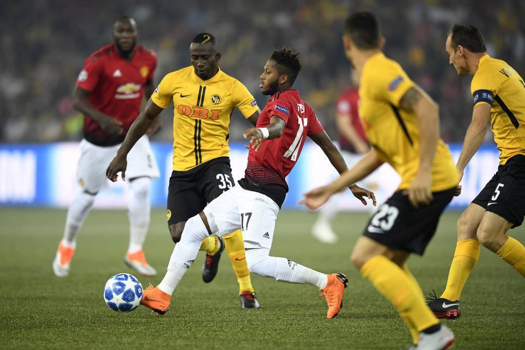 YB vs. Manchester United (© Keystone)