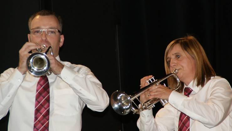 Einzelne Musikantinnen und Musikanten glänzten als Solisten. sih