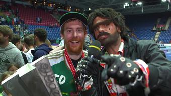 Müslüm war beim Unihockey-Superfinal hautnah dabei.