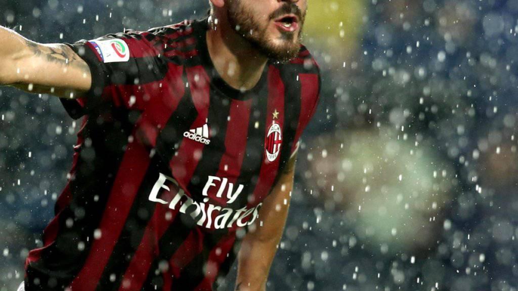 Leonardo Bonucci kann nach heutigem Stand in der kommenden Saison mit Milan nicht in der Europa League spielen