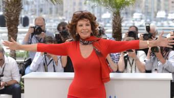 Schauspielerin Sofia Loren in Cannes