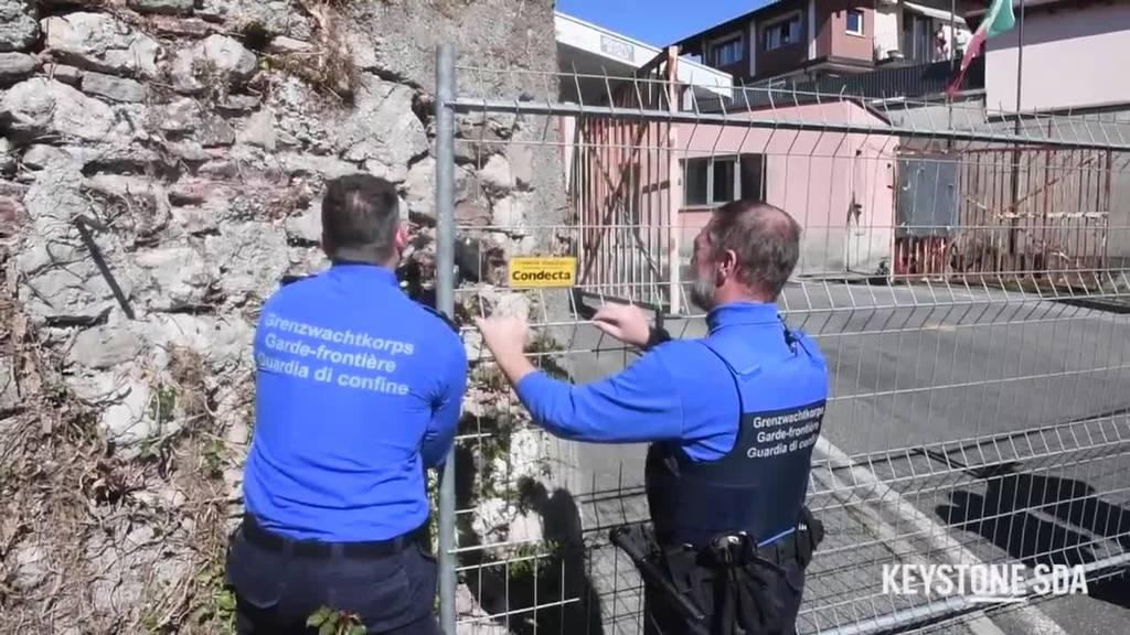 Schweiz schliesst neun kleinere Grenzübergänge nach Italien