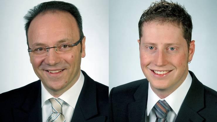 Die Kandidaten der CVP: Pierino Menna und Philippe Ebener.
