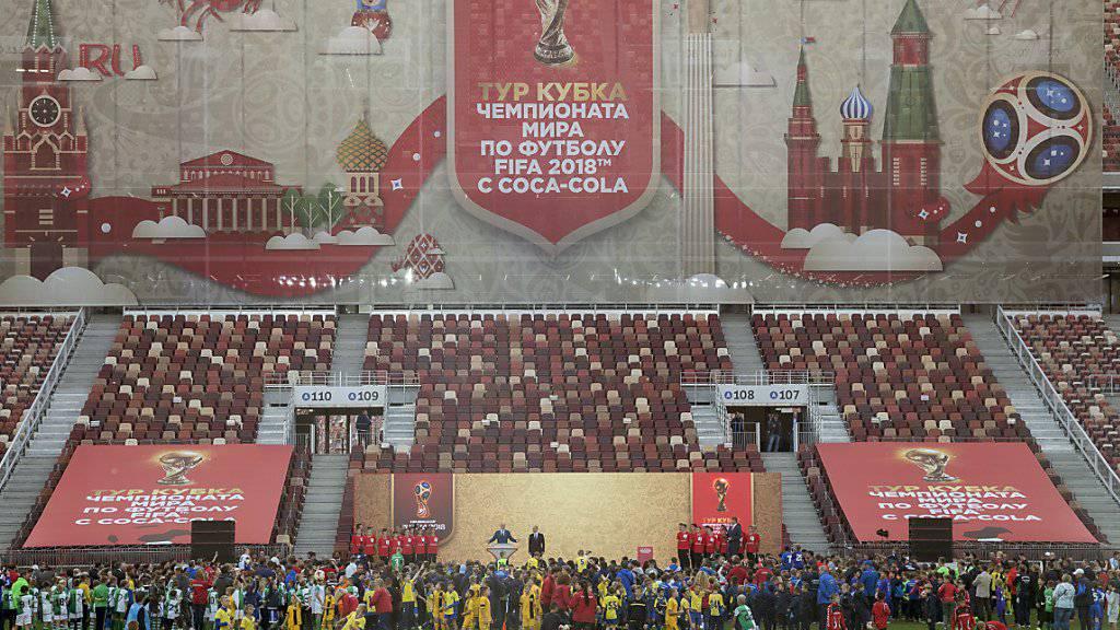 Gastgeber Russland hofft bei der Fussball-WM 2018 auf gut gefüllte Stadien.
