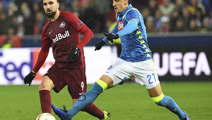 Munas Dabbur bleibt mit Salzburg trotz starker Leistung an Napoli hängen