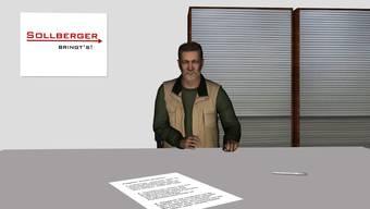 Ein Problemfall: Herr Hüsler im virtuellen Büro.