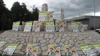 Die jungen Grünen drohen damit, auch Kreisel mit Plakaten zu bestücken