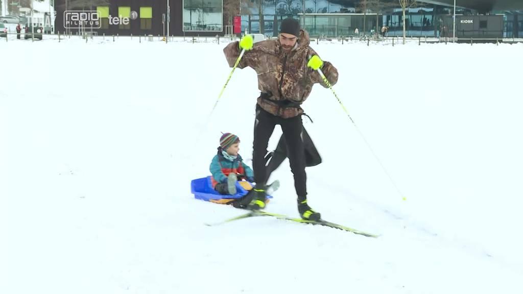 Erste Stadtluzerner Langlaufloipe erfreut Hobby-Sportler