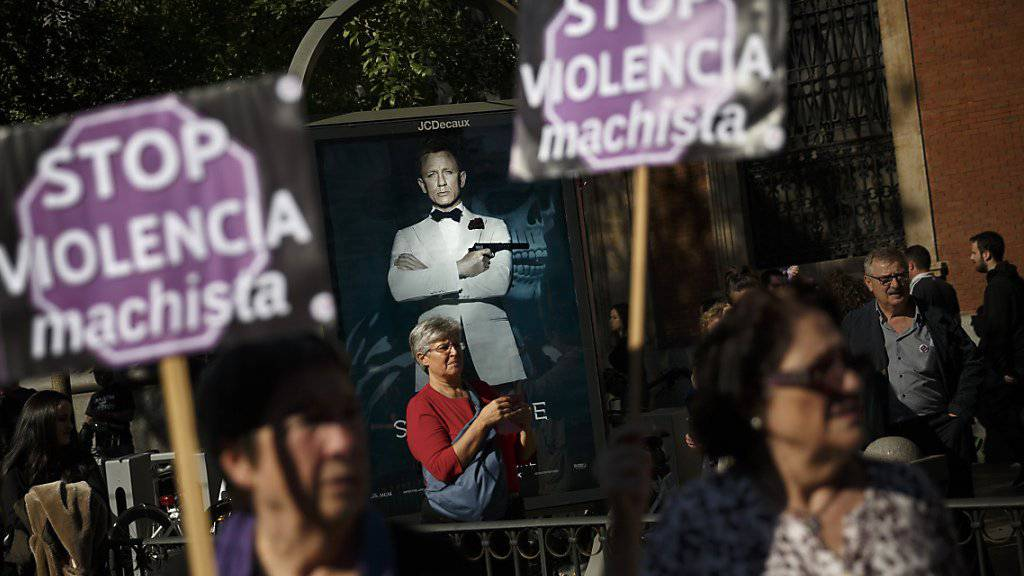 """""""Stoppt die Machogewalt"""" forderten Demonstrierende in Madrid"""