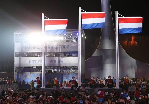 Drei Mal Niederlande, so sah das bei den Zeremonien im Eisschnelllauf mehrmals aus