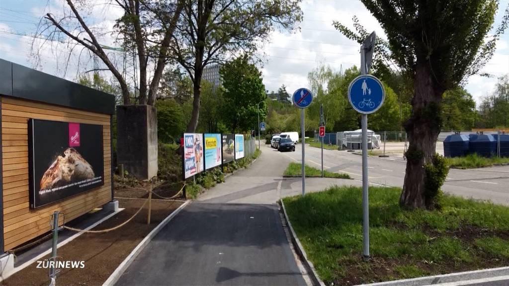 Schilder-Irrsinn: 5,3 Meter kurzer Veloweg in Schwamendingen