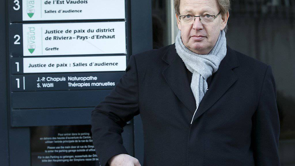 Robert Dill-Bundi am Montag bei der Ankunft vor dem Gericht in Vevey VD.