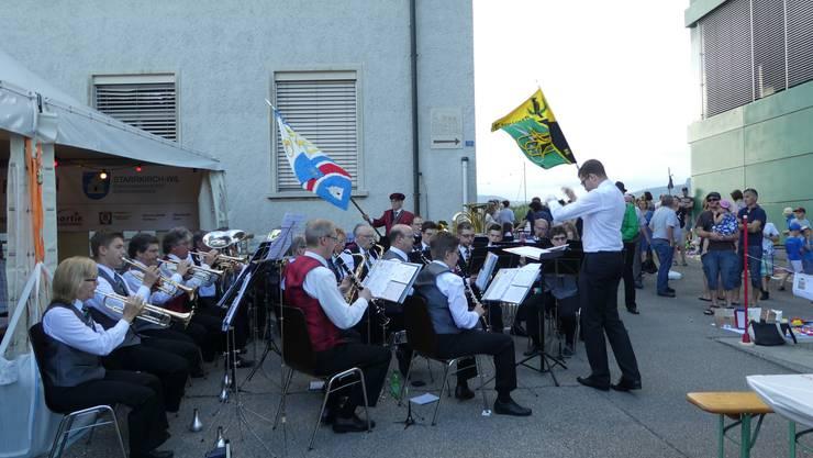 Die SG beim Auftritt am Beizlifest in Starrkirch-Wil!