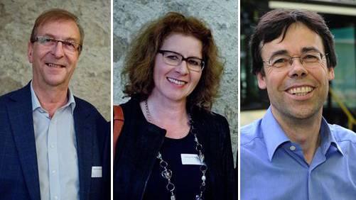 Werden nicht mehr antreten: Martin Wehrli, Dorina Jerosch und Christoph Brun (v.l.)