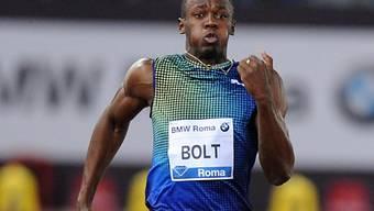 Usain Bolt hatte in Rom gegen Justin Gatlin das Nachsehen