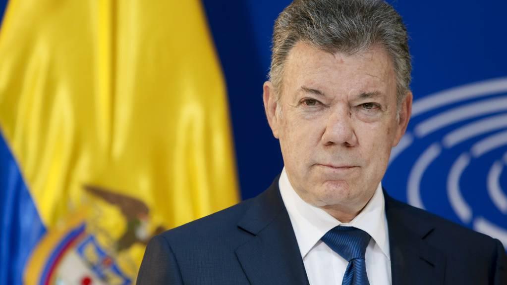 ARCHIV - Der damalige kolumbianische Präsident Juan Manuel Santos. Foto: Notimex/dpa