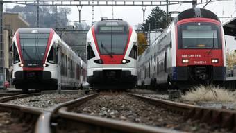 Wegen Unterhaltsarbeiten wird die Bahnstrecke Pratteln-Brugg während vier Nächten gesperrt. (Archivbild)