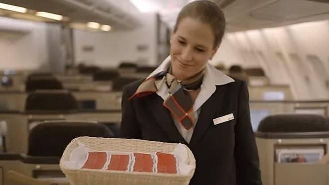 So preist die Swiss ihre Board-Schokolade an.