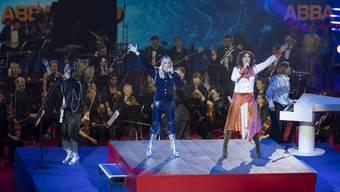 Die schwedische Kultband ABBA trat bei der Eröffnungszeremonie der Swiss Indoors auf.