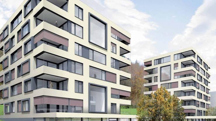 Die geplanten Neubauten für 56 Wohnungen im Kehl. zvg