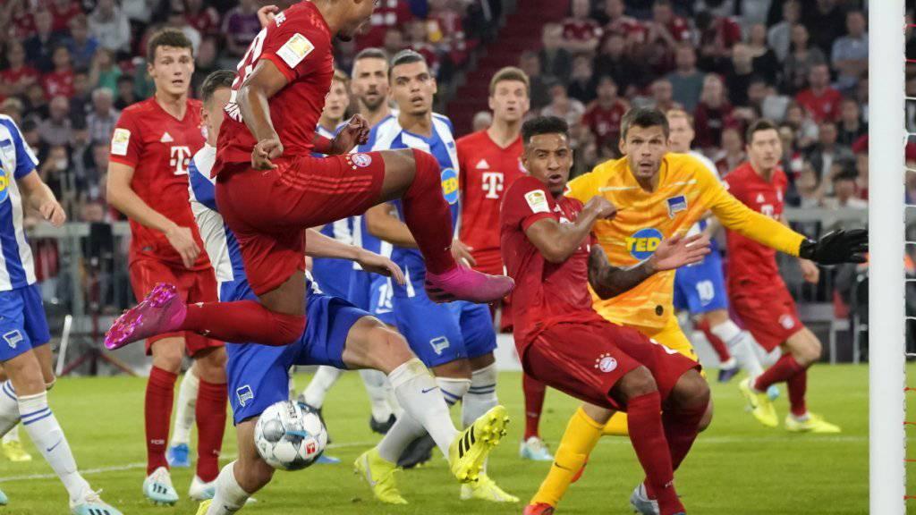 Die Offensive der Bayern agiert gegen Hertha teilweise chaotisch