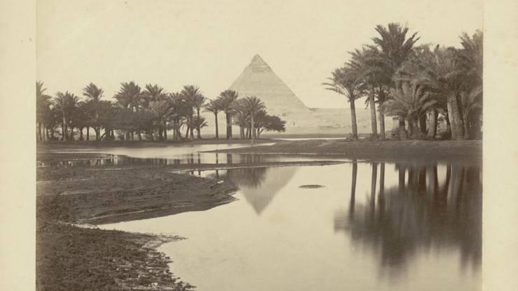 """Die Fotografie Ohne Titel von Pascal Sebah ist Teil der Ausstellung """"Traumbild Ägypten"""" im Museum Rietberg in Zürich. Die Schau dauert vom 20. Juni bis 20. Oktober 2019."""