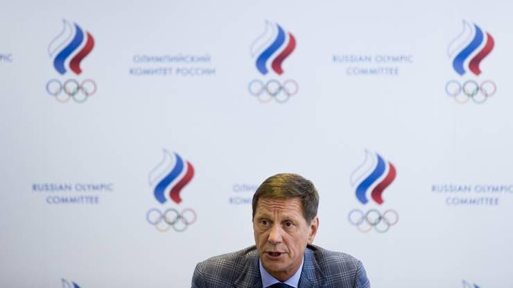 Viele russische Athleten waren unter den aufgedeckten Dopingfällen. Hier erklärt sich der Präsident des Olympischen Komittees Russlands, Alexander Zhukov.
