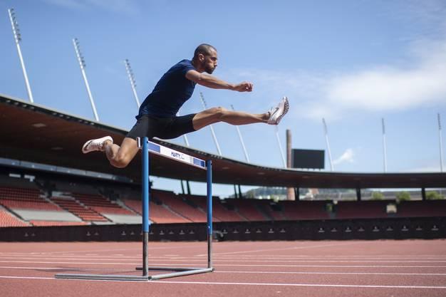 Kariem Hussein trainiert so wie früher im Stadion Letzigrund.