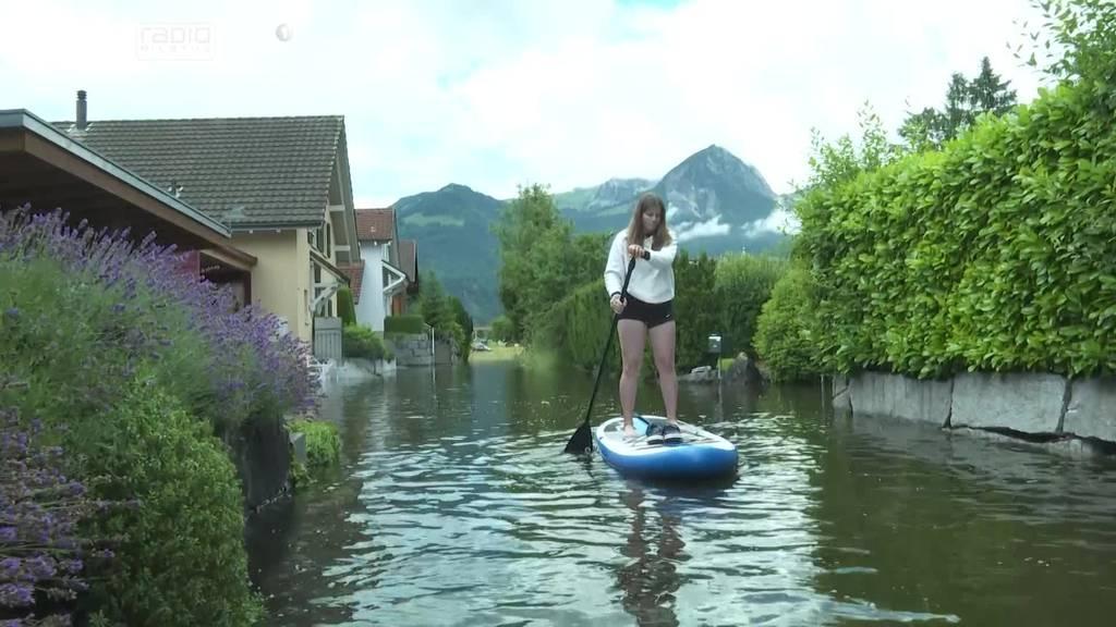 Rund 50 Häuser bei Sachseln sind nur noch übers Wasser erreichbar