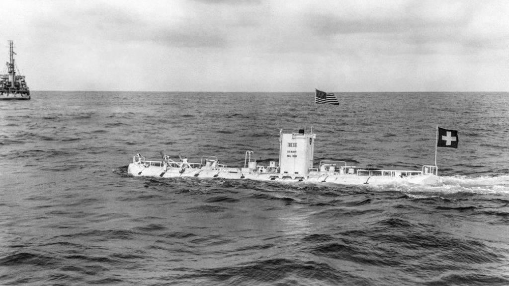 Die «Trieste», ein vom Schweizer Auguste Piccard und seinem Sohn Jacques Piccard konzipiertes Tiefsee-U-Boot, stellte 1960 im Marianengraben einen Tiefseerekord auf. Dieser ist nun von einem US-Investor um einige Meter gebrochen worden. (Archivbild)
