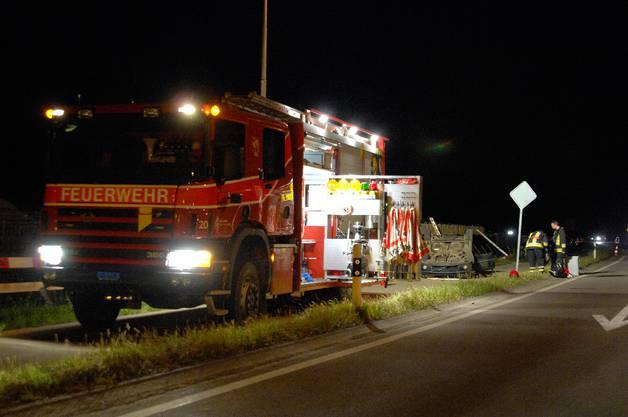 Die Feuerwehr war vor Ort
