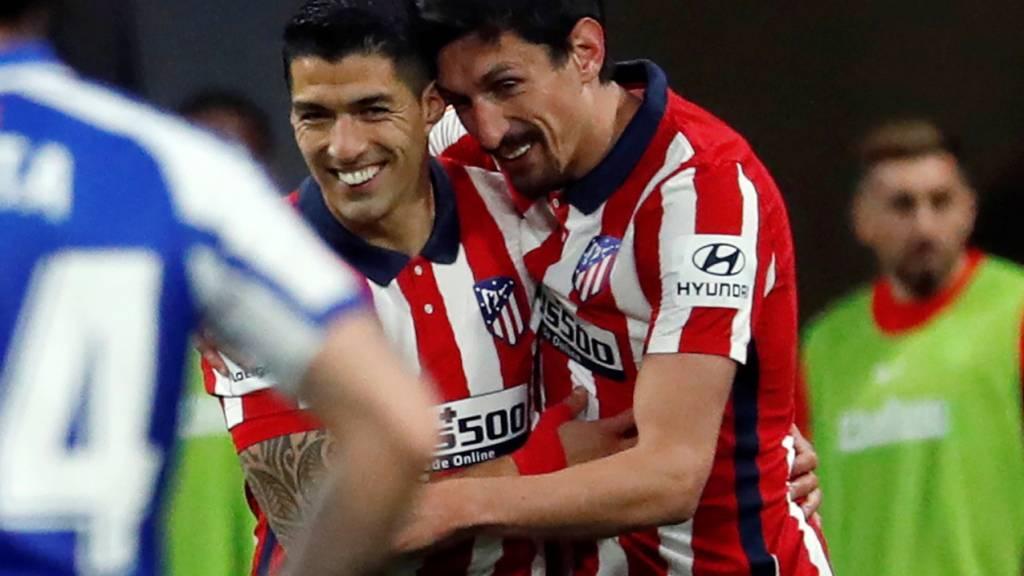 Luis Suarez traf einmal mehr für Atlético Madrid