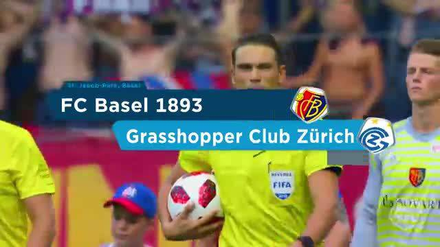Super League, 2018/19, 3. Runde, FC Basel – Grasshoppers, Highlights