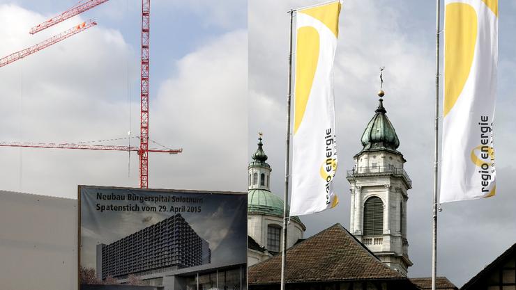 Wegen einem Teilprojekt vom Bau des neuen Bürgerspitals stehen sich Kanton und Regio Energie in einem juristischen Fall gegenüber.