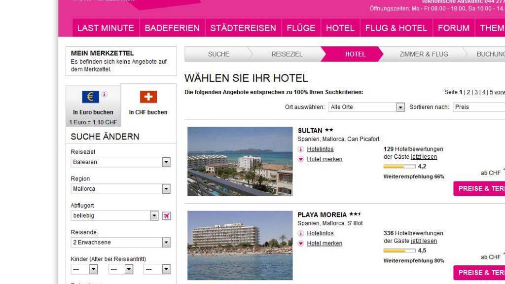 Mit Plattformen wie Lastminute.ch oder Bravofly.com schreibt das Internetreisebüro Lastminute.com mit Sitz im Tessin derzeit noch rote Zahlen.